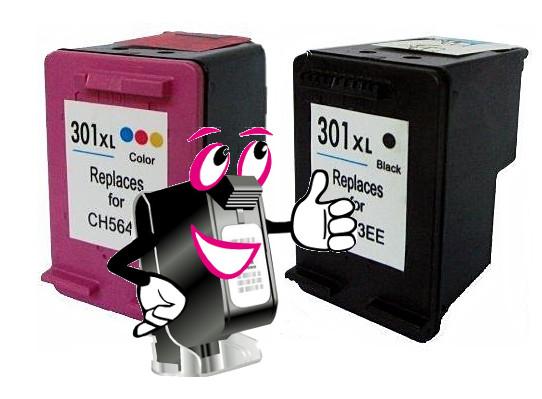 Refilled Druckerpatronen vom Tintenmarkt für HP Tintenstrahldrucker