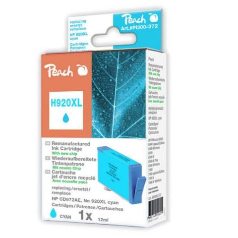Peach Recycelte Druckerpatrone HP CD972AE, mit