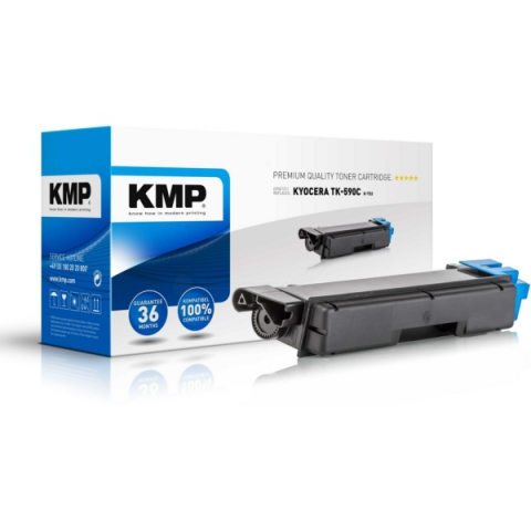 KMP Toner, ersetzt Kyocera TK-590C recycelter