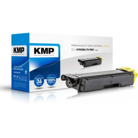 KMP Toner, ersetzt Kyocera TK-590Y recycelter