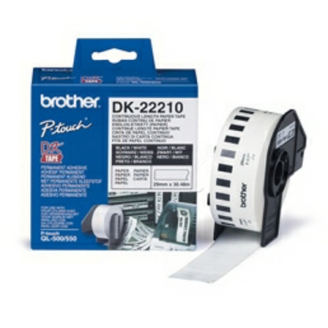 Brother DK22210 BROTHER P-TOUCH QL550 PAPER 30,