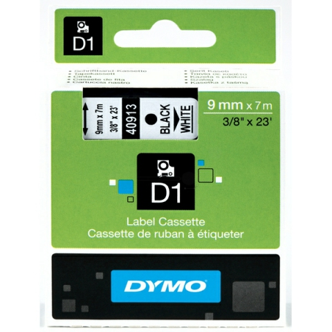 Dymo DYMO Schriftband D1 40913 schwarz , weiß