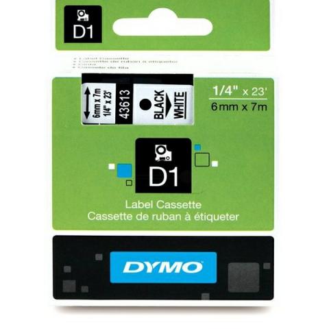 Dymo DYMO Schriftband D1 43613 schwarz , weiß