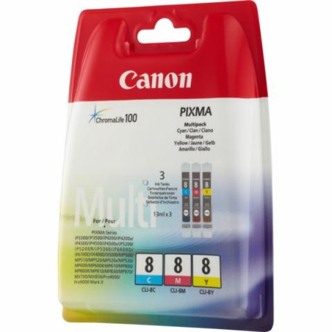 Canon CLI-8 C , M , Y Druckerpatronen im