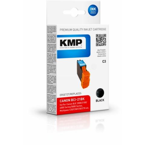 KMP Druckerpatrone ersetzt Canon BCI-21BK mit