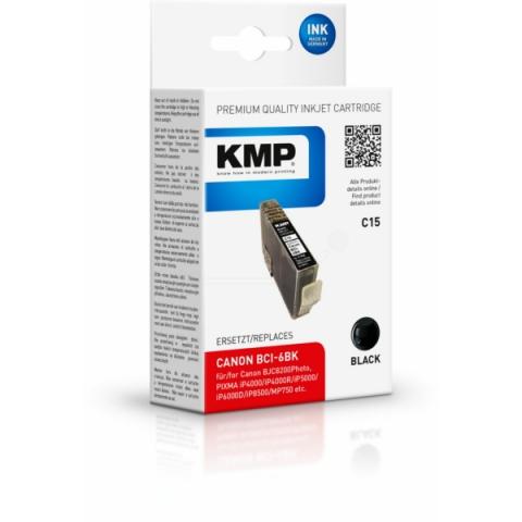 KMP Druckerpatrone ersetzt Canon BCI-6BK mit