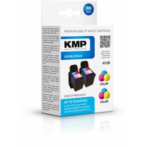 KMP Druckerpatrone mit Druckkopf 2 x 17 ml für