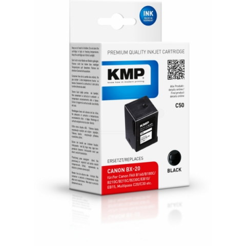 KMP Refill Druckerpatrone ersetzt Canon BX-20