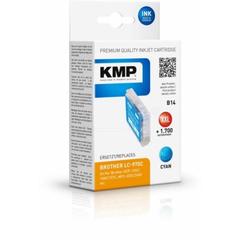 KMP Druckerpatrone ersetzt Brother LC-970C mit