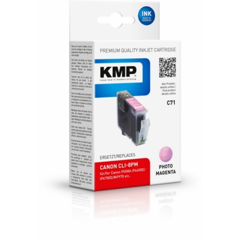 KMP Photo Tintenpatrone von ersetzt Canon