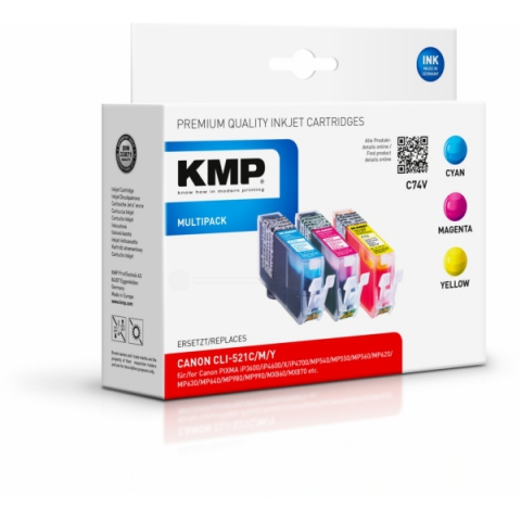 KMP Kompatible Tintenpatrone, 3 x 9ml Inhalt,