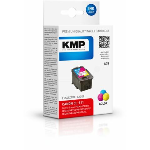 KMP refilled Druckerpatrone ersetzt Canon CL-511
