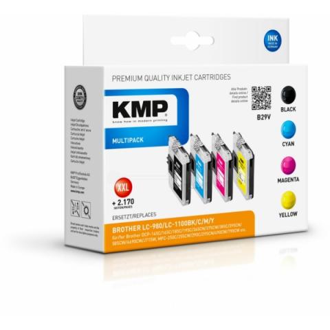 KMP Tintenpatronen ersetzen Brother LC980VALBP