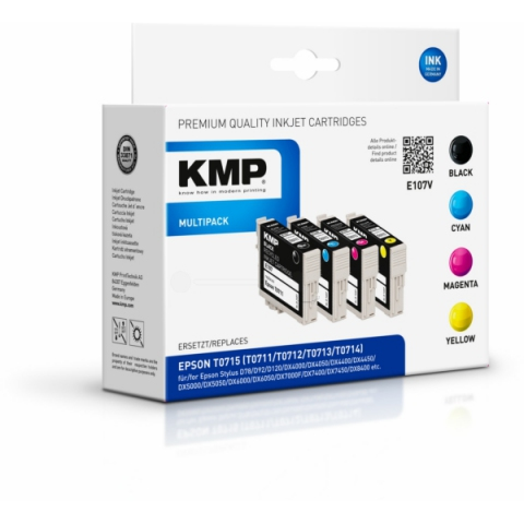 KMP Multipack Druckerpatronen ersetzt Epson