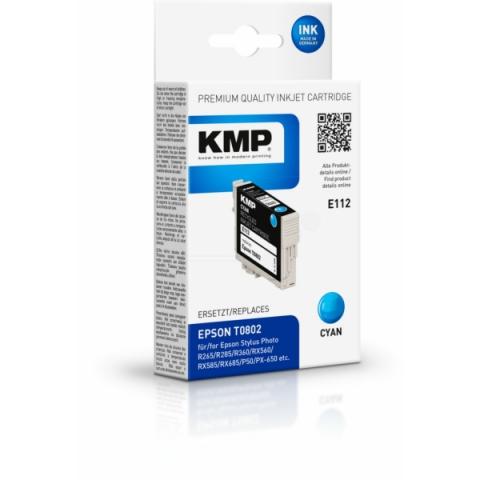 KMP Druckpatrone ersetzt Epson T0802 mit 7, 4 ml