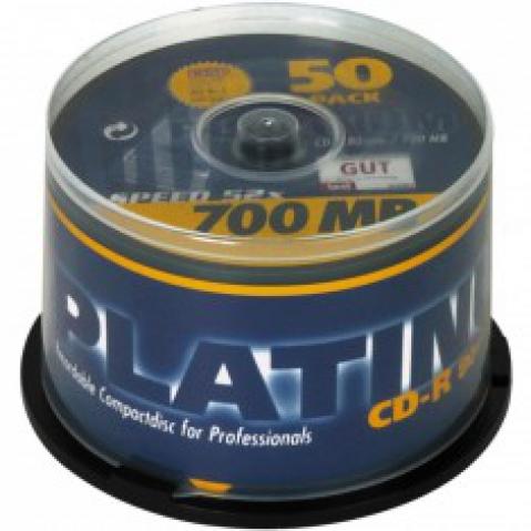 Platinum CD-R 80 52x 50er Cake gelabelt