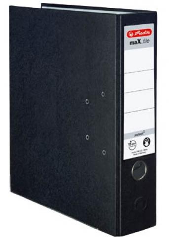 Herlitz 8 cm schwarzer Kunststoff Ordner