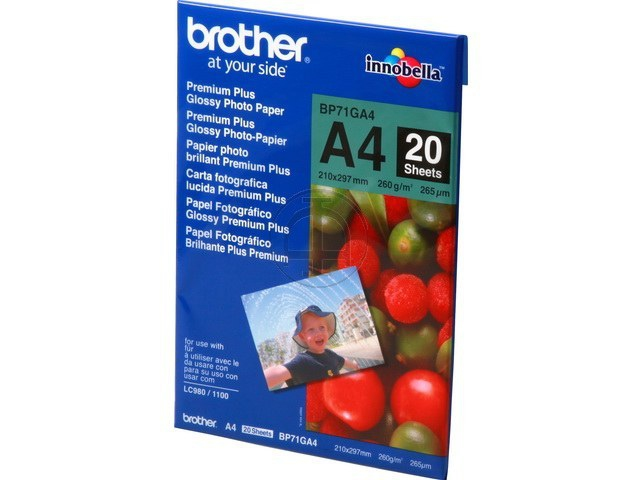 Brother BP71GA4 Fotoglanzpapier, A4, 20