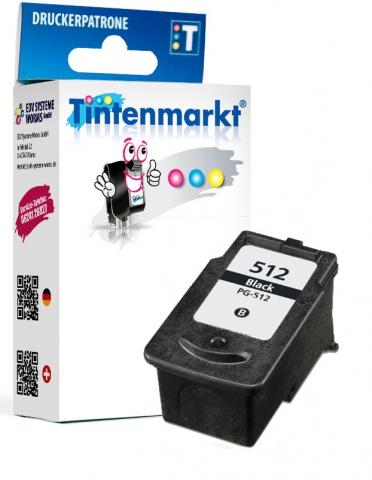 Tintenmarkt Druckerpatrone ersetzt Canon PG-512,