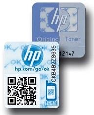 HP Hologramme für echte Toner