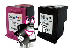 recycelte Druckkopfpatronen vom Tintenmarkt